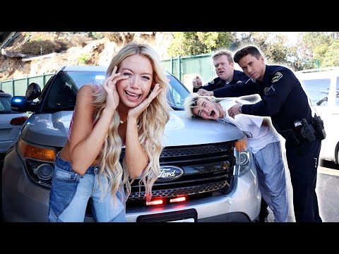 GETTING ARRESTED IN FRONT OF MY GIRLFRIEND PRANK!! (SHE CRIED)