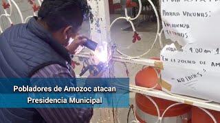 Pobladores atacan Presidencia Municipal de Amozoc, Puebla; exigen renuncia del alcalde