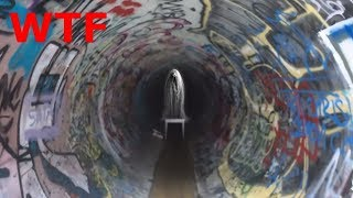 EXPLORING A HAUNTED TUNNEL!!!