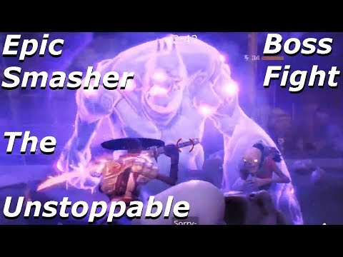 Fortnite - Epic Smasher The Unstoppable (Boss Fight) Effects - Tank ,Water & Slowing-Pools
