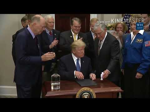 Trump Signs New Space Policy Directive 1 - New manned NASA missions to the Moon and mars