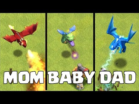 "DRAGON FAMILY RAID ""Clash Of Clans"" FAMILY THEORY!!"