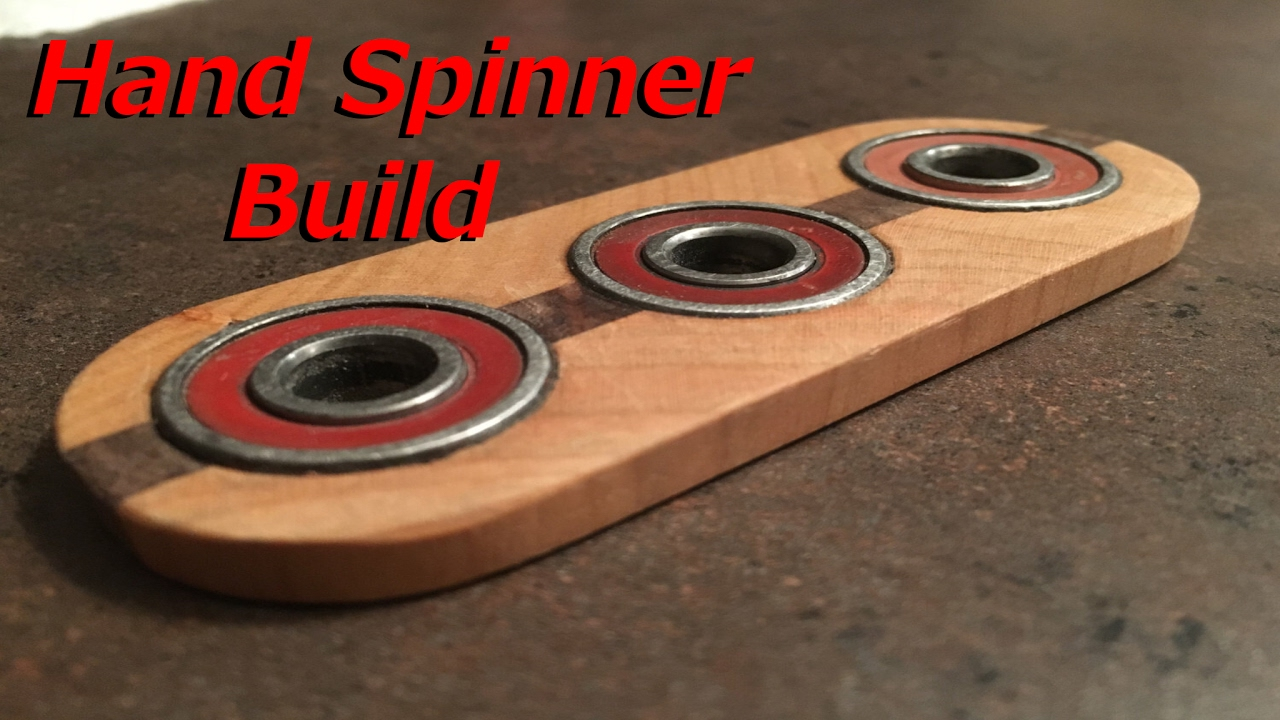 how to make a wood hand spinner easy youtube. Black Bedroom Furniture Sets. Home Design Ideas
