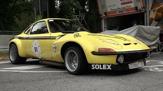 1972 Steinmetz Opel GT Group 4 Sound & Accelerations at Vernasca Silver Flag 2016