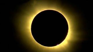 Полное солнечное затмение 20 марта 2015. Солнечная корона. Solar Eclipse Live 20/03/15