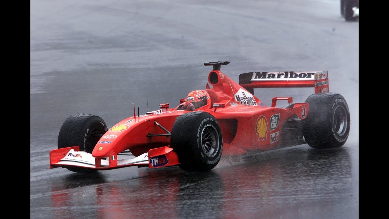 MICHAEL SCHUMACHER DANCE IN THE CHAOS OF MALAYSIA 2001 - YouTube