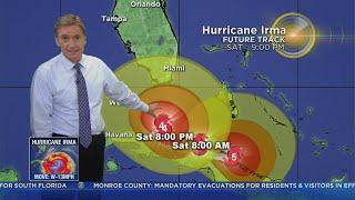 Tracking Hurricane Irma 9-8-17 11pm Advisory