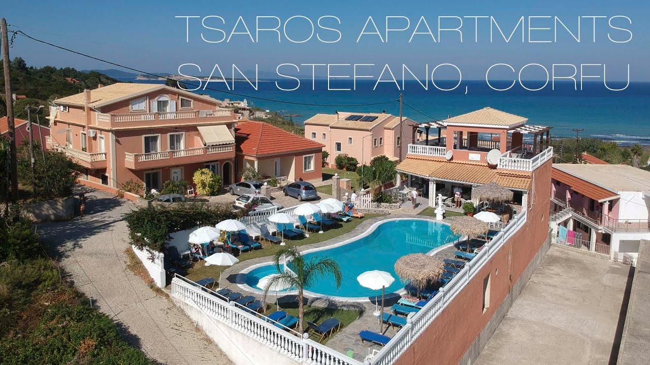 Tsaros Apartments, San Stefanos, Corfu - YouTube