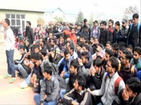 KAshmir University protest agaist Gowher's killing