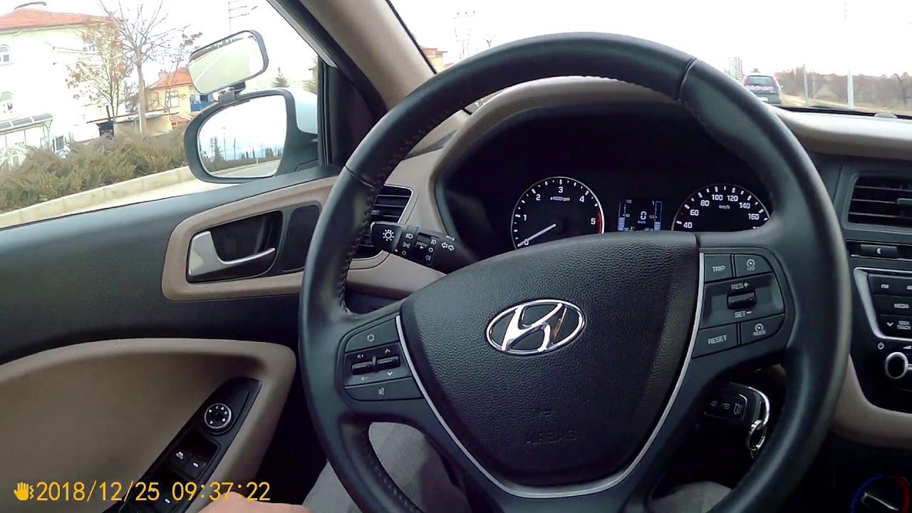 Hyundai i20 araç içi tanıtım direksiyon sınavı Ayklas sürücü kursu