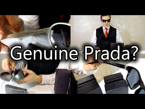 060def878d How to spot Genuine or Fake Prada Sunglasses - YouTube