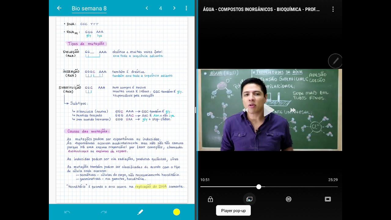 Como uso o recurso de tela dividida do tablet para estudar e trabalhar