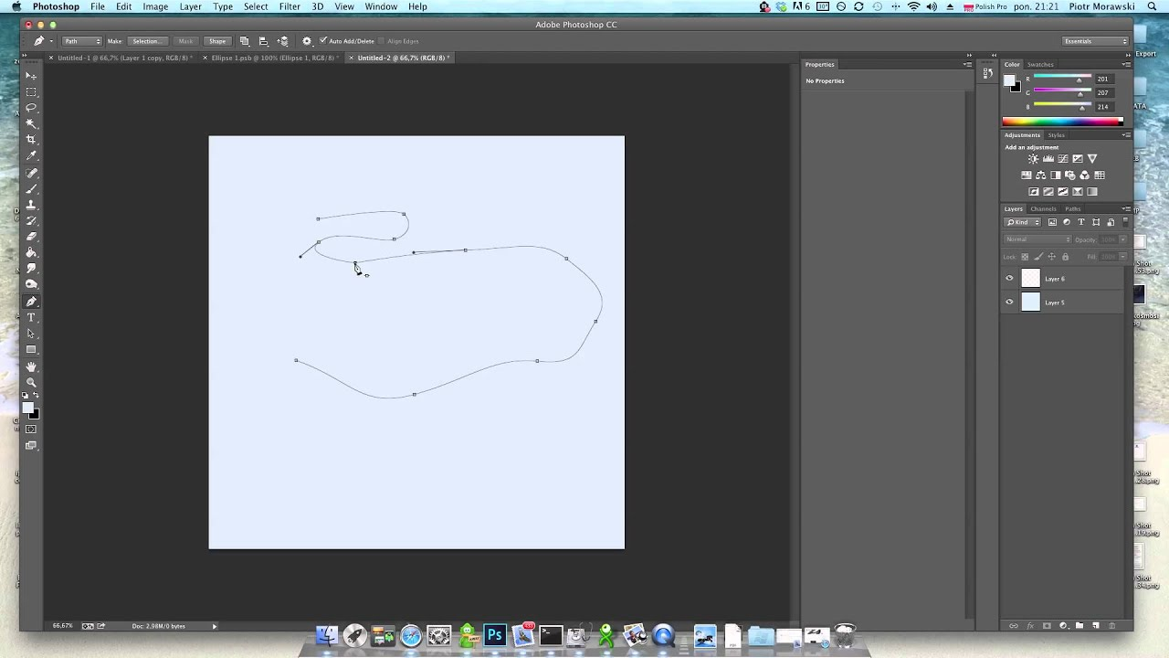 how to draw using pen tool in photoshop
