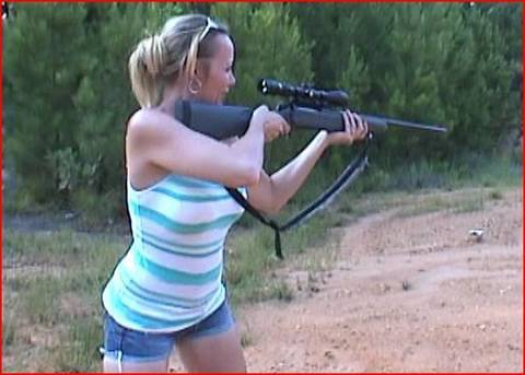 300 Mag Fun With Heather & Jeff (Recoil, Muzzle Blast, Impact Test On Ice & Water)