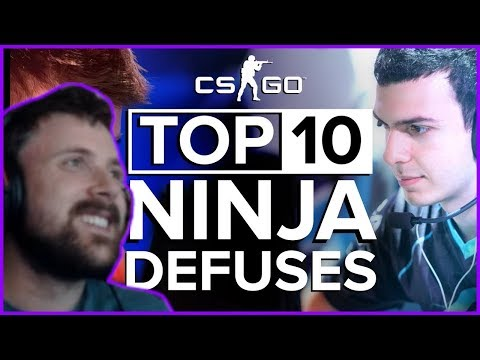 Forsen Reacts To The Top 10 Ninja Defuses in CS:GO by  theScore esports