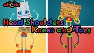 Head Shoulder Knees and Toes - exercise song for children with BoBoBag | Abcde in Balloon World