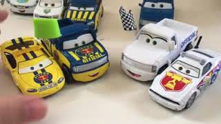 Disney Pixar cars Charlie Checker and Dexter Hoover with green flag diecast review PART 2