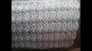 Палантин из мохеровой пряжи крючком / How crochet a scarf