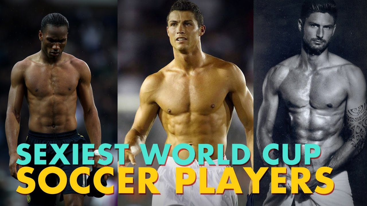 Sexy male soccer players