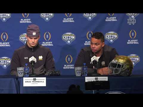 @NDFOOTBALL | CFP ARRIVAL MEDIA SESSION (12.24.18)