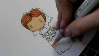 Copics - Coloring the CCD Bride Emma Image