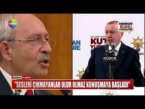 """Erdoğan: """"Sesleri çıkmayanlar olur olmaz konuşmaya başladı"""""""