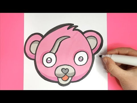 How To Draw Cuddle Team Leader Skin | Fortnite