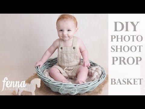 DIY Cheap Chalk Paint Basket for Newborn & Baby Photography