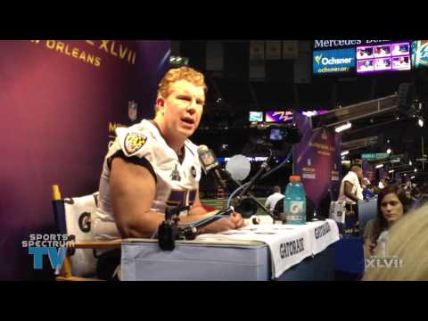 Matt Birk - Super Bowl XLVII Media Day
