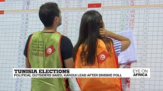 Political outsiders claim lead in first round of Tunisia's presidential vote