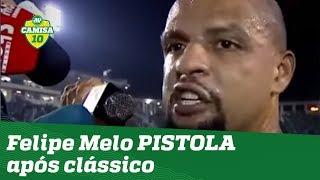 Ficou PU**! OLHA a PISTOLADA do Felipe Melo após Palmeiras 4 x 0 Santos!