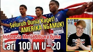 Seluruh Dunia Kaget Reaksi Orang Korea Menonton Indonesia Menjadi Juara Dunia Lari 100 M U 20