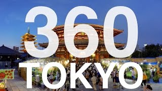 360° Video : Tokyo Japan Asakusa Senso-ji temple 360ビデオ 浅草寺ホオズキ市