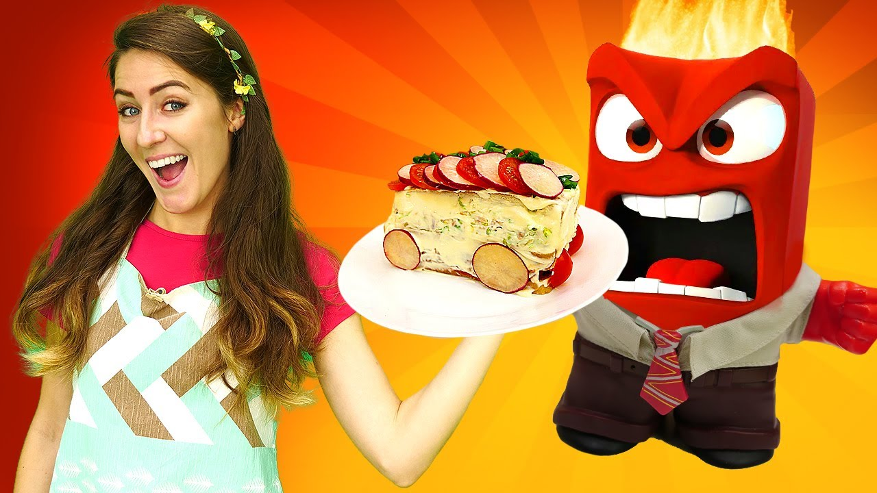 Un autobús comestible para los juguetes Inside Out. Juegos de cocinar para niñas. Cocina para niños