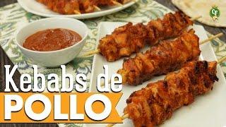 ¿Cómo preparar Kebabs de Pollo con salsa BBQ y Chipotle? - Cocina Fresca