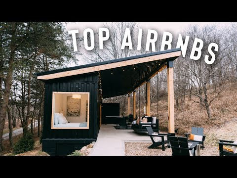 TOP 5 AIRBNBS TO STAY AT!   (container homes, treehouses, tiny homes)