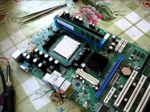 Компьютер не включается 2ч. Ремонт материнки