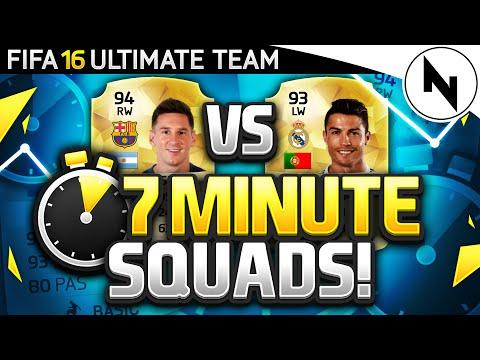 EPIC MESSI v RONALDO 7 MINUTE SQUADS!!!! - FIFA 16 Ultimate Team