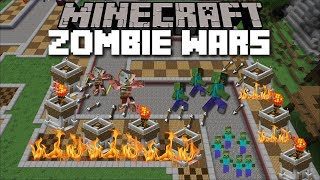 Minecraft ZOMBIE WARS MOD / FIGHT OFF WAVES OF MONSTERS AND DEFEND YOUR CASTLE!! Minecraft