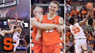 The syracuse orange had a great number of entertaining plays in 2019-20 and many involved elijah hughes. almost every game he highlight dunk or an ath...