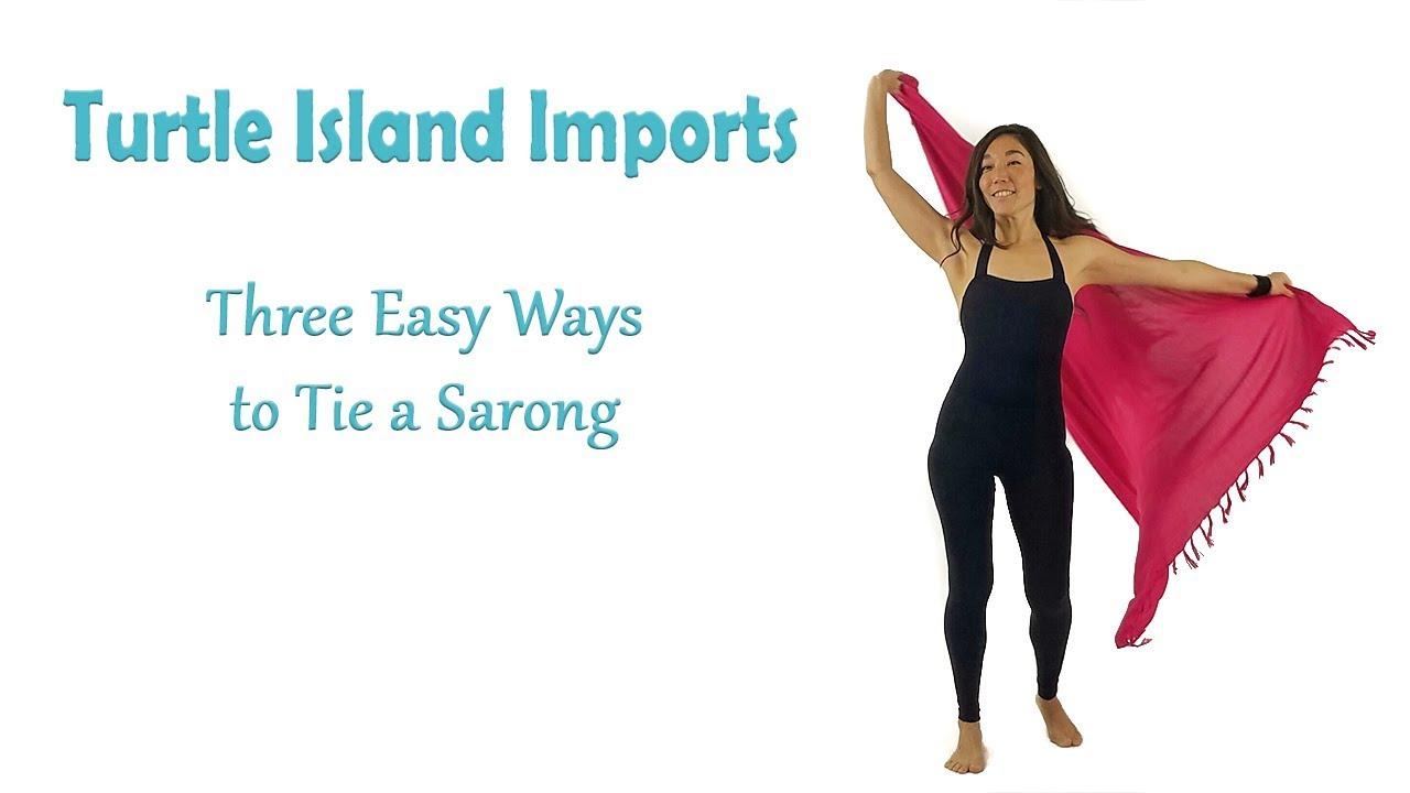 ce43b6adc4cbe Three Easy Ways to Tie a Sarong - YouTube
