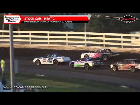 Wingless Sprint/Stock Car Heats - Southern Iowa Speedway - 7/16/19