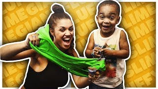 DIY GIANT FLUFFY SLIME | THE PRINCE FAMILY