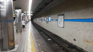 台風による短縮運用!名古屋市営地下鉄鶴舞線3050形3153編成  庄内緑地公園行き 八事到着