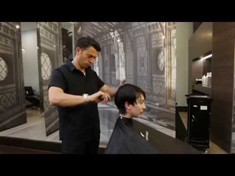 Short shape on shape Pixie cut and colour by Adam (extended how to video)