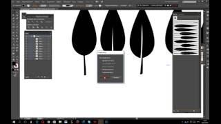 Урок Adobe Illustrator. Рисуем листья и создаём из них кисти.