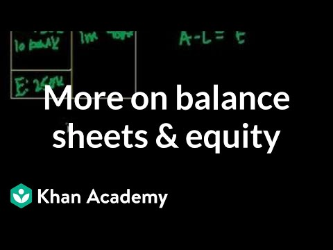 More on balance sheets and equity | Housing | Finance & Capital Markets | Khan Academy