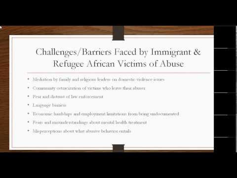 ECDC Webinar  Working with Immigrant and Refugee African Victims of Abuse