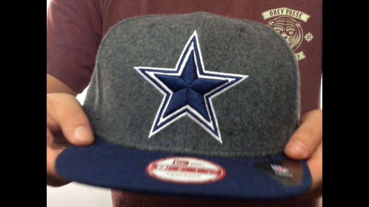93e20ccd6 Cowboys  CLASSIC MELTON SNAPBACK  Grey-Navy Hat by New Era - YouTube