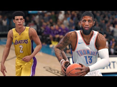 NBA Live 18 Gameplay | Oklahoma City Thunder Vs Los Angeles Lakers (Westbrook & PG13 Vs Lonzo Ball)